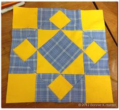 Love this one. Has a tutorial. Lots of free block tutorials on this site.  Quiltville's Quips & Snips!!: It's a Guilford County block!