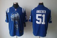 Pat Angerer Jersey: Nike Helmet Tri-Blend Limited #5 Indianapolis Colts Jersey in
