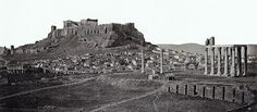 Many years ago. The name of the photographer who captured this amazing and crystal clear panoramic view of the Acropolis and Temple of Olympian Zeus is unknown, lost with passage of time, however, their remarkable image endures to this day. Ancient Greek Architecture, Classical Architecture, Parthenon, Acropolis, Qantas A380, Magna Graecia, Greece History, Strategic Planning, Financial Planning