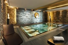 Spa area at the Falkensteiner Hotel & Asia Spa Leoben, Styria Spa Design, Spa Interior Design, Design Hotel, Pool Spa, Deco Spa, Home Spa Room, Spa Treatment Room, Luxury Homes Dream Houses, Indoor Swimming Pools