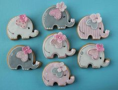 New Baby Shower Elephant Cupcakes Jungle Animals 21 Ideas Baby Girl Elephant, Elephant Party, Elephant Baby Showers, Elephant Theme, Elephant Cupcakes, Elephant Cookies, Baby Girl Cookies, Baby Shower Cookies, Fancy Baby Shower