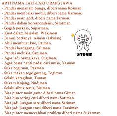 arti nama dalam bahasa jawa buat sekedar seru-seruan doang :)