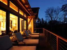 The back deck offers a quiet spot for contemplation and observation of nature.