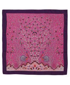 Liberty London Scarves Pink Eden Print Silk Scarf | Scarves by Liberty London Scarves | Liberty.co.uk