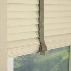35mm Primary Wood Venetian Blinds With Tapes - Cream