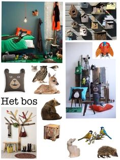 Kinderkamer het bos  Moodboard made by me  Kidsroom nursery forest woods