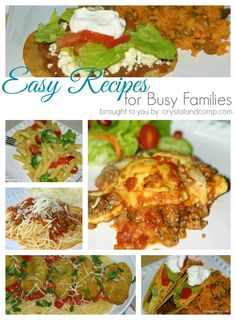 easy recipes for busy families