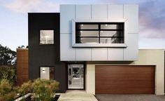 fachadas de casas modernas de color gris