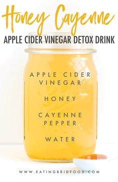 Apple Cider Vinegar Remedies Honey Cayenne Apple Cider Vinegar Drink - Apple cider vinegar detox drinks you'll actually enjoy drinking. Four flavors including: Limeade, Ginger Spice, Honey Cayenne and Apple Pie. Vinegar Detox Drink, Apple Cider Vinegar Detox, Drinking Vinegar, Natural Sleep Remedies, Cold Home Remedies, Herbal Remedies, Natural Cures, Natural Health, Natural Skin