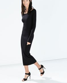 Image 3 of LONG RIBBED DRESS from Zara