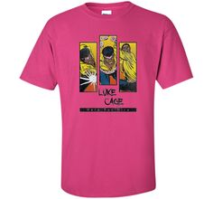 Heroes for Hire Luke Cage Panels Graphic T-Shirt