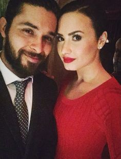 Demi Lovato / Wilmer Valderrama  Not a fan of him. But she's happy & I'll deal with it.