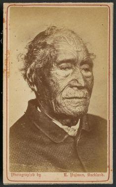 Tāmati Waka Nene | NZHistory, New Zealand history online. Photograph taken by New Zealand photographer Elizabeth Pulman ca. 1870.