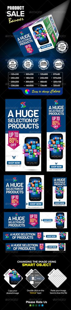 Product Sale Banners Template PSD | Buy and Download: http://graphicriver.net/item/product-sale-banners/7490034?WT.ac=category_thumb&WT.z_author=BannerDesignCo&ref=ksioks