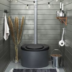 Tiny Cabins, Lake Cabins, Glamping, Outdoor Toilet, Monochrome Bedroom, Rv Homes, Small Cottages, Outdoor Bathrooms, Composting Toilet