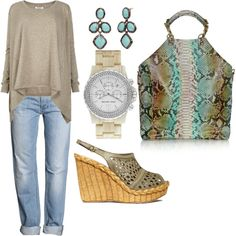 Love these color combinations-great outfit for cooler spring and summer days-JD