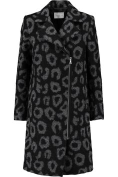 SANDRO Miline felted-bouclé coat. #sandro #cloth #coat