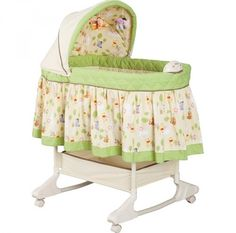 The adorable Disney Happy Day Pooh Rocking Bassinet is perfect for keeping your little one close to you during the early months. With an attractive, Winnie the Pooh dream-world design, this bassinet will look great in any room. Winnie The Pooh Nursery, Disney Winnie The Pooh, Baby Bassinet, Baby Cribs, Bassinet Cover, Disney Baby Nurseries, Disney Babys, Baby Doll Accessories, Baby Bedroom