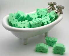 Space invader soaps, perhaps for the soap avoiders in our lives?