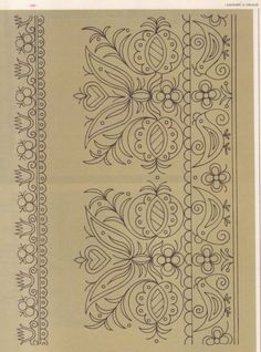 Gallery.ru / Фото #161 - Словенска людова вишивка - tanytryell Border Embroidery Designs, Learn Embroidery, Hand Embroidery Patterns, Cross Stitch Embroidery, Machine Embroidery, Hungarian Embroidery, Vintage Embroidery, Motif Floral, Embroidery Techniques