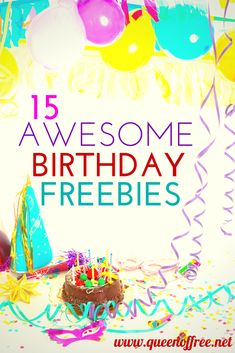 Celebrate your birthday at no cost at all! Check out this great round up of FREEBIES available to you on your birthday.