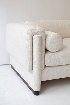 Howard Sofa, Upholstered Down and Solid Wood For Sale at 1stdibs