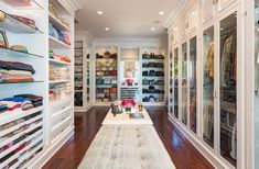 The closet has plenty of space for handbags, clothes, and shoes.  Source: Chris Cortazzo