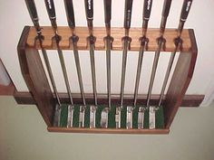 Wood Golf Club Display Rack Irons Putters Wall or Floor for Rare Scotty Cameron