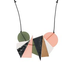 Buy the Maika Graphic Shapes Resin Necklace at Oliver Bonas. Enjoy free worldwide standard delivery for orders over £50.
