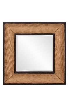 Howard Elliott Collection 'South Hampton' Square Mirror - Brown
