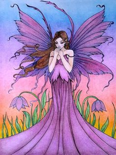 Coloured By Susan Marie Huguenard‎. This is from Molly Harrison's Magical Fairies Done in Prisma, CraZart & some really cheap pencils I got from Michael's. And I did a *touch* of gel pens on the tip of the wings.