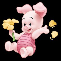 This shall b tattooed on my thigh with the phrase I love you piglet under it. Pices Tattoo, Baby Piglets, Rose Flower Wallpaper, B Tattoo, Baby Disney, Cute Tattoos, Baby Love, Cartoon Characters, Hello Kitty
