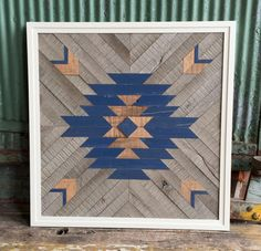 Aztec - Reclaimed wood by RustedWillowArtworks on Etsy https://www.etsy.com/listing/222776390/aztec-reclaimed-wood