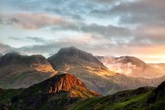 Side Pike and Harrison Stickle, Langdale Fells, Lake District, Cumbria, England by Paul Bullen
