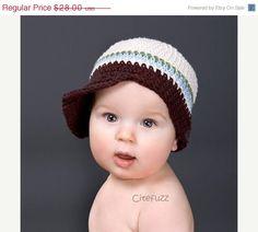 newborn to 5T  Cotton Hat Mod Tot  Bebop Brim Cap by citefuzzhats, $23.80