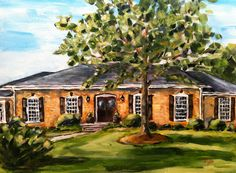 """Mason's House"" Sarah B. Lytle Original Oils - 9""x12"" commission"