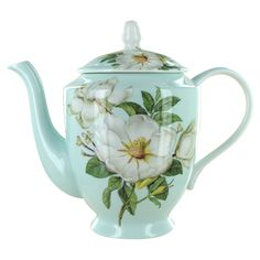 Blue Magnolia Bone China - 4 Cup Teapot