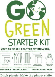 Go Green Starter Kit 16 Reusable Plastic Free Organic Produc.- Go Green Starter Kit 16 Reusable Plastic Free Organic Products – Zero Waste Wooden Utensil Set, Bees - Go Green, Green Life, No Waste, Reduce Waste, Save Our Earth, Save The Planet, Mug Design, Help The Environment, Sustainable Living