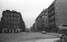 1962 , Ulica Dobra, widok od ulicy Solec