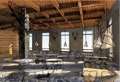 Горнолыжный курот on Behance/ By Takk Interior Design