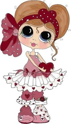 "Photo from album ""Sweet Girl /Милая девочка"" on Yandex. Holly Hobbie, Cute Images, Cute Pictures, Colouring Pages, Coloring Books, Art Mignon, Eye Art, Cute Dolls, Digital Stamps"