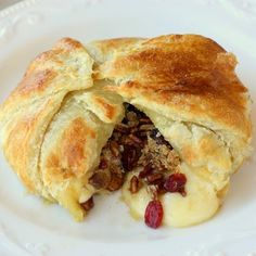 Cranberry and Pecan Brie En Croute, recipe here http://www.tablespoon.com/recipes/cranberry-and-pecan-brie-en-croute-recipe/1/