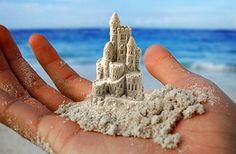 tiny sandcastle.