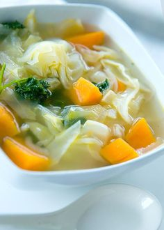 Cabbage soup is earthy with a subtle sweetness. With a few aromatic vegetables or some meat or lentils added, it makes an inexpensive yet flavorful and fil