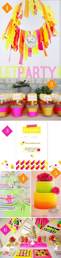 For the love of NEON!  Awesome Neon Wedding and Party Details and Decorations!