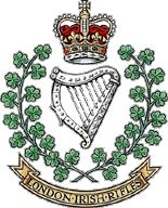 London Irish Rifles. British Army Uniform, British Soldier, Military Stickers, Army Reserve, British Armed Forces, Badges, Royal Guard, Military Cap, Military Service