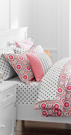 Fresh Pink Duvet Cover #girls #rooms | bedroom