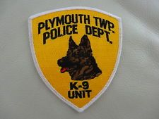 PLYMOUTH TWP. NEW JERSEY  K-9 UNIT ..POLICE PATCH.