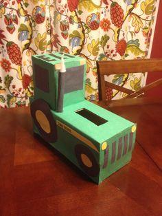 Tractor Valentine Box