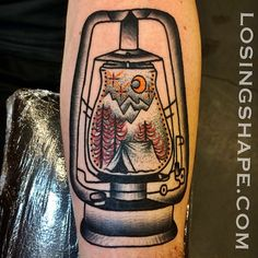 I got to do this rad lantern a little while back while I was visiting @Torch Tattoo . Thanks for looking! Tron/ Losingshape.com